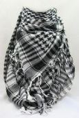 Black and White Arab Shemagh Fashion Scarf